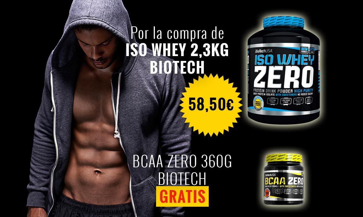 Iso whey Zero - 2,3 kilos - Regalo de BCAA ZERO 360G  BIOTECH